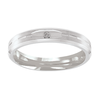 Lega Diamond Wedding Band - Taras Design Montreal