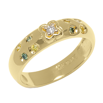 Melkon Gold Diamond Ring - Taras Design Montreal