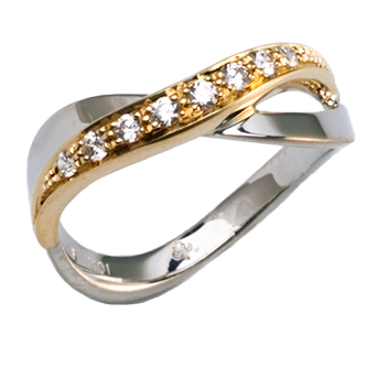 Melkon Silver Diamond Ring - Taras Design Montreal